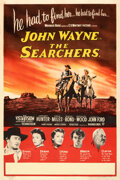 """Movie Posters:Western, The Searchers (Warner Bros., 1956). Fine/Very Fine on Linen. British Double Crown (20"""" X 30"""").. ..."""