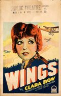 """Movie Posters:Academy Award Winners, Wings (Paramount, 1927). Fine+. Window Card (14"""" X 22"""") Style A.. ..."""