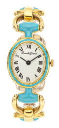 Estate Jewelry:Watches, Bueche Girod Lady's Enamel, Gold Watch. ...