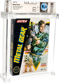 Metal Gear - Wata 9.8 A+ Sealed [Rev-A, Round SOQ] (Carolina Collection), NES Ultra 1988 USA