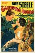 """Movie Posters:Western, Galloping Romeo (Monogram, 1933). Fine+ on Linen. One Sheet (27"""" X 41"""").. ..."""