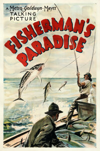 """Fisherman's Paradise (MGM, 1931). Fine+ on Linen. Stock One Sheet (27"""" X 41"""")"""