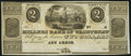 Obsoletes By State:Michigan, Ann Arbor, MI- Millers Bank of Washtenaw $2 18__ Remainder Choice Crisp Uncirculated.. ...