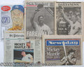 Miscellaneous, (5) FAREWELL TO MICKEY MANTLE NEWSPAPERS. Upon his death in 1...