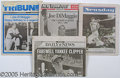 Miscellaneous, (4) FAREWELL TO JOE DIMAGGIO NEWSPAPERS. Here are 4 papers fr...
