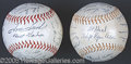 "Miscellaneous, 1962 W. S. ""AUTOGRAPHED"" BALLS. During the 1962 World Series,..."