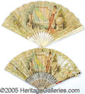 General Historic Events:World Fairs, 1904 ST. LOUIS WORLD'S FAIR VICTORIAN FANS - 2 DIFFERENT. Two...