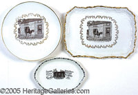 GEN. FRED GRANT AT CABIN 1904 ST. LOUIS WORLD'S FAIR CHINA - LOT OF 3. P Three different china items picturing General G...