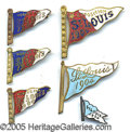 General Historic Events:World Fairs, ST LOUIS WORLD'S FAIR ENAMELED FLAG PINBACKS - LOT OF 6. Lot of ...