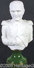 "General Historic Events:World Fairs, NAPOLEON 10-1/2"" HIGH PORCELAIN/BISQUE BUST. 10-1/2"" high bust o..."