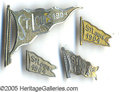 General Historic Events:World Fairs, ST. LOUIS WORLD'S FAIR 1904 FLAG PINBACKS - 4 DIFFERENT. Four di...