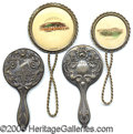 General Historic Events:World Fairs, 1904 WORLD'S FAIR 4 HAND HELD SOUVENIR MIRRORS. Four different h...