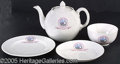 General Historic Events:World Fairs, CEYLON TEA CERAMIC SET ST. LOUIS WORLD'S FAIR. Ceramic tea se...
