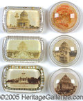 General Historic Events:World Fairs, ST. LOUIS WORLD'S FAIR PAPERWEIGHTS - LOT OF 6. Lot of 6 diff...
