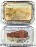 General Historic Events:World Fairs, 2 DIFFERENT ADV PAPERWEIGHTS - ST. LOUIS WORLD'S FAIR. Two di...