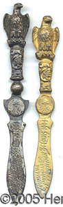 General Historic Events:World Fairs, PAIR EAGLE/CASCADES LETTER OPENERS ST. LOUIS WORLD'S FAIR. Two l...