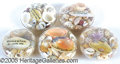 General Historic Events:World Fairs, GLASS ENCLOSED SEA SHELL PAPERWEIGHTS ST. LOUIS WORLD'S FAIR - L...