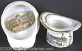 General Historic Events:World Fairs, ST. LOUIS WORLD'S FAIR CERAMIC HATS -LOT OF 2 DIFFERENT BUILDING...