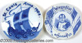 General Historic Events:World Fairs, ST LOUIS WORLD FAIR - 2 DIFFERENT BLUE/WHITE PLATES. Two diff...