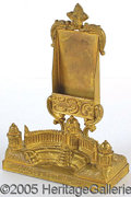 General Historic Events:World Fairs, CASCADES & FESTIVAL HALL BRASS DESK CARD HOLDER ST. LOUISWORLD'...