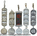 General Historic Events:World Fairs, 5 DIFFERENT LINK FOBS ST. LOUIS WORLD'S FAIR - 3 ALUMINUM/2 META...