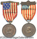 General Historic Events:World Fairs, WAR PRESIDENT 1896 MCKINLEY MEDALS ST. LOUIS WORLD'S FAIR. 2 dif...