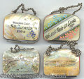 General Historic Events:World Fairs, 4 ST. LOUIS WORLD'S FAIR MOTHER OF PEARL CHANGE PURSES. 4 dif...