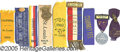 General Historic Events:World Fairs, 9 DIFFERENT ST. LOUIS WORLD'S FAIR RIBBONS WITH EVENTS &ATTACHM...