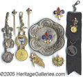 General Historic Events:World Fairs, 9 DIFFERENT FLEUR DE LIS ITEMS 1904 ST. LOUIS WORLD'S FAIR. 9...