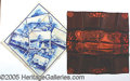 General Historic Events:World Fairs, 4 DIFFERENT SCENE TEXTILES FROM THE 1904 ST. LOUIS WORLD'S FAIR....