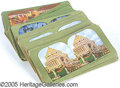 General Historic Events:World Fairs, SET GREEN BORDERED STEREO CARDS ST. LOUIS WORLD'S FAIR. Group...