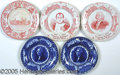 General Historic Events:World Fairs, 5 DIFFERENT ST. LOUIS WORLD'S FAIR SOUVENIR PLATES. This lot con...