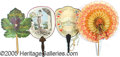 General Historic Events:World Fairs, 4 DIFFERENT ST. LOUIS WORLD'S FAIR SOUVENIR FANS.  4 dif...