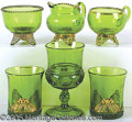 General Historic Events:World Fairs, 6 ST. LOUIS WORLD'S FAIR SOUVENIR PIECES GLASSWARE. Interesti...