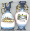 General Historic Events:World Fairs, PAIR OF AUSTRIAN MADE SOUVENIR CHINA WORLD'S FAIR. Beautiful ...