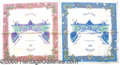 General Historic Events:World Fairs, 2 M/C CASCADES BANDANNAS. Here we have two excellent bandannas d...