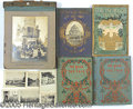 General Historic Events:World Fairs, 4 WORLD'S FAIR BOOKS AND PHOTO ALBUM WITH 47 VIEWS. A nice lo...