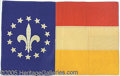 General Historic Events:World Fairs, FLEUR-DE-LIS 1904 ST. LOUIS WORLD'S FAIR SILK FLAG. Nicely fr...