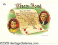 General Historic Events:World Fairs, ST. LOUIS WORLD'S FAIR CIGAR BOX LABEL - TREATY BOND. Beautifull...