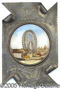 General Historic Events:World Fairs, ST. LOUIS WORLD'S FAIR FERRIS WHEEL UNDER GLASS PICTURE. Meta...