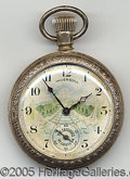 General Historic Events:World Fairs, INGERSOLL POCKET WATCH THE CASCADES 1904 WORLD'S FAIR. Sensat...