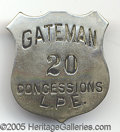 General Historic Events:World Fairs, ST. LOUIS WORLD'S FAIR GATEMAN - CONCESSIONS BADGE. Heavy metal ...
