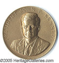 """Political:Tokens & Medals, EXTREMELY RARE JFK """"WITH APPRECIATION"""" MEDAL, PASSED OUT ON HIS ..."""