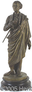 Political:3D & Other Display (pre-1896), LARGE GEORGE WASHINGTON BRONZE-FINISH STATUE. Very attractive...