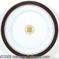 Political:3D & Other Display (1896-present), SCARCE REAGAN OFFICIAL WHITE HOUSE CHINA CHARGER PLATE. Overs...