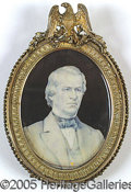 Political:3D & Other Display (pre-1896), STUNNING ANDREW JOHNSON MINIATURE FORMERLY AT THE WHITE HOUSE.