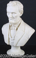 Political:3D & Other Display (pre-1896), SUBERB LARGE LINCOLN PARIAN BUST FROM THE WHITE HOUSE. G...