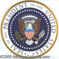 Political:3D & Other Display (1896-present), HUGE PRESIDENTIAL SEAL USED BY RICHARD NIXON. This mammoth wo...