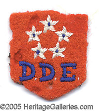 COLORFUL EISENHOWER PERSONALLY-OWNED FIVE-STAR MONOGRAMMED FELT PATCH. P Of the type worn by Ike on various items of per...