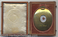 AUTHENTIC HAIR LOCK OF ULYSSES S. GRANT. beautifully housed in a brass locket/case (vintage, but not original) engraved...